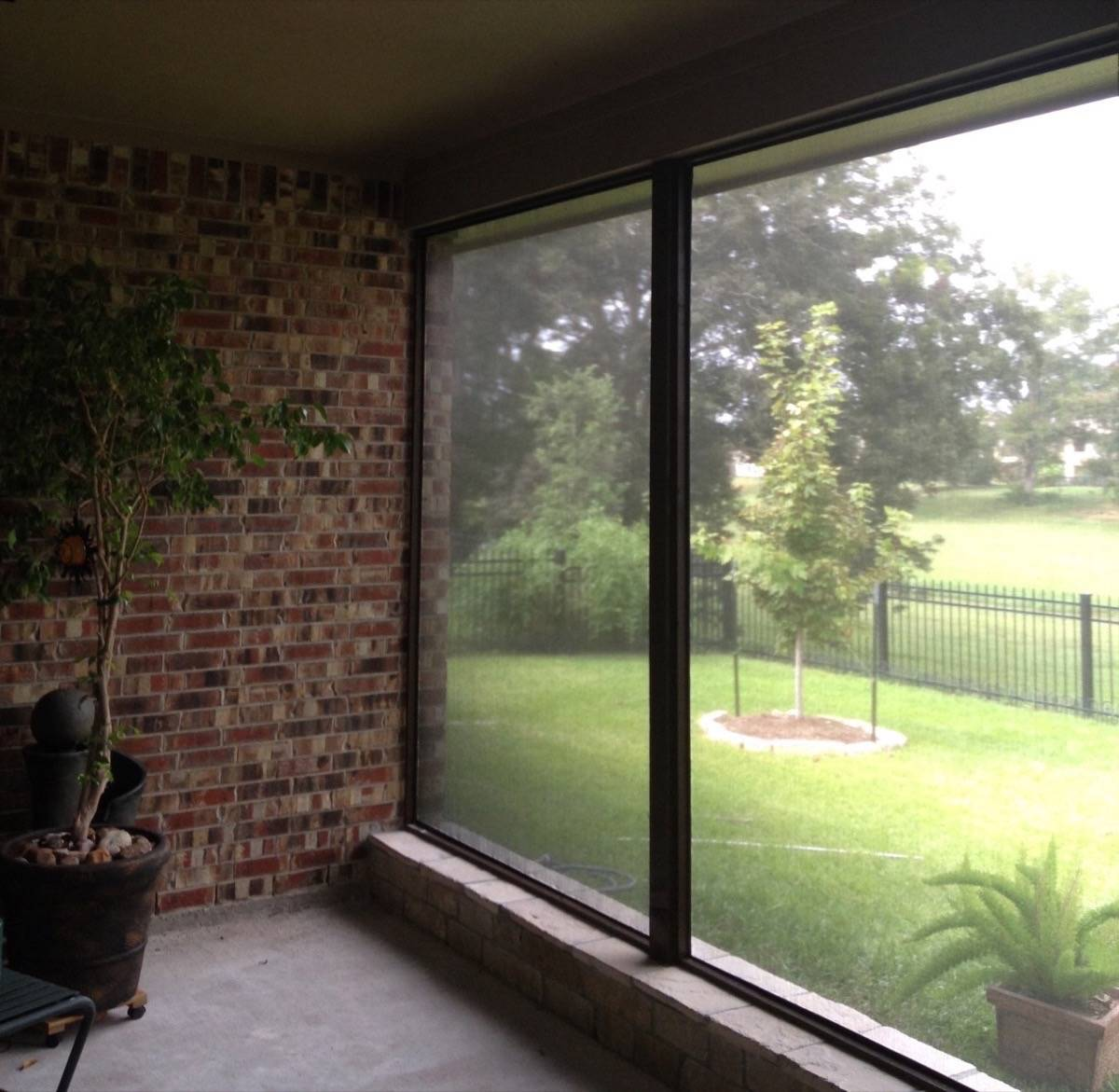 screens window sunroom covers porch image plastic install patio of screen for